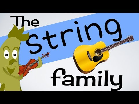 String Instruments for kids (INSTs 1)| Guitar | Harp | Violin & more | Green Bean's Music