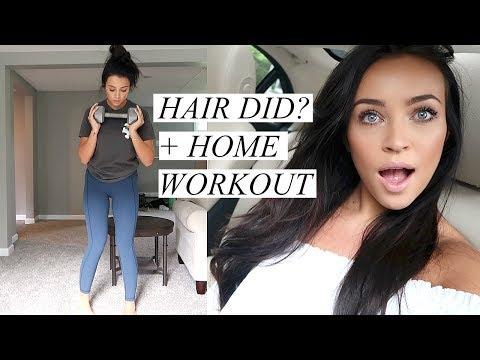 VLOG: Got My Hair Did?! + Home Workout | Stephanie Ledda