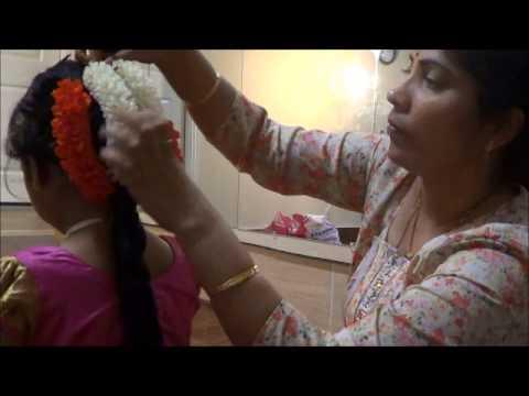 Hair dressing for pattu langa kids