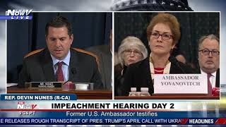 WHAT IS GOING ON? Devin Nunes Questions Why Marie Yovanovitch Is Even Testifying