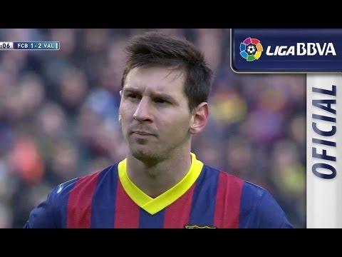 Gol de Penalti de Messi (2-2) en el FC Barcelona - Valencia CF - HD