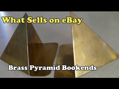 What Sells On EBay: Vintage Brass Pyramid Bookends, Suede Gap Messenger Bag, Vintage Pepsi Ski Hat