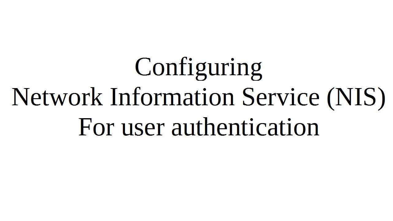 configuring user authentication