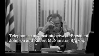 LBJ and Robert McNamara, 8/4/64, 10.53a.