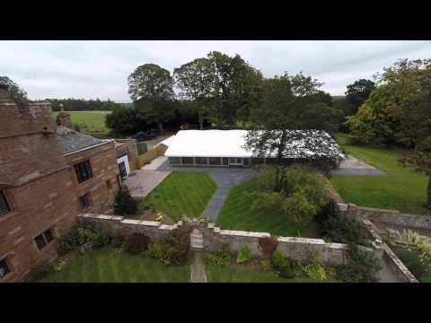 Dalston hall hotel & marquee aerial view