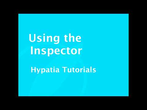 Tutorial   Using the Inspector