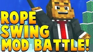 ROPE SWING MOD CHALLENGE | Minecraft - Mod Battle