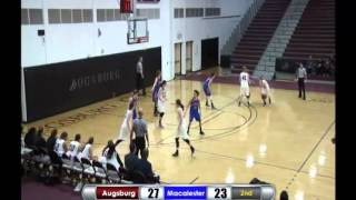 Augsburg Women's Basketball Highlights - Macalester