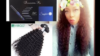 Under $200 aliexpress frontal install hair review + 20%off IrresistibleMe 8in1 curling wand!