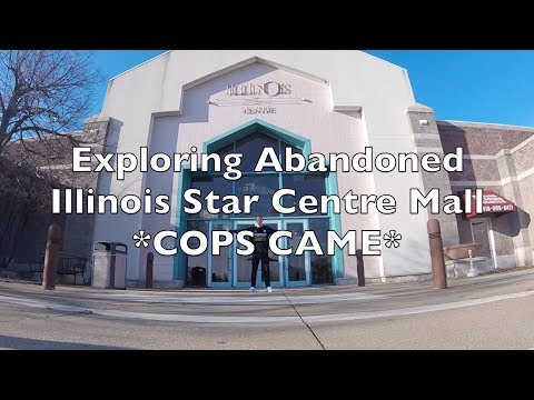 Exploring Abandoned Illinois Star Centre Mall  * COPS CAME *