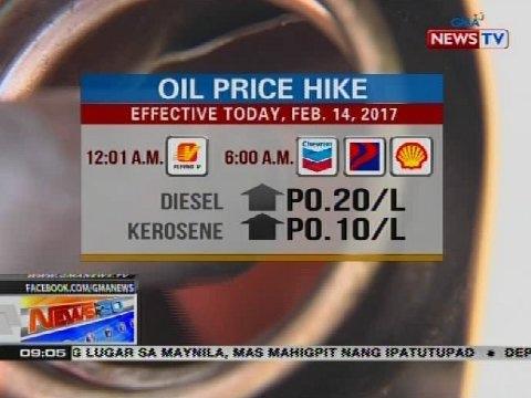 NTG: Oil price hike (Feb. 14, 2017)
