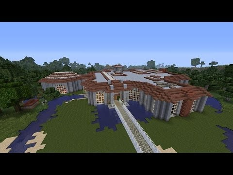 Minecraft modern house tour xbox 360 14 with download for Tuto maison moderne minecraft xbox 360