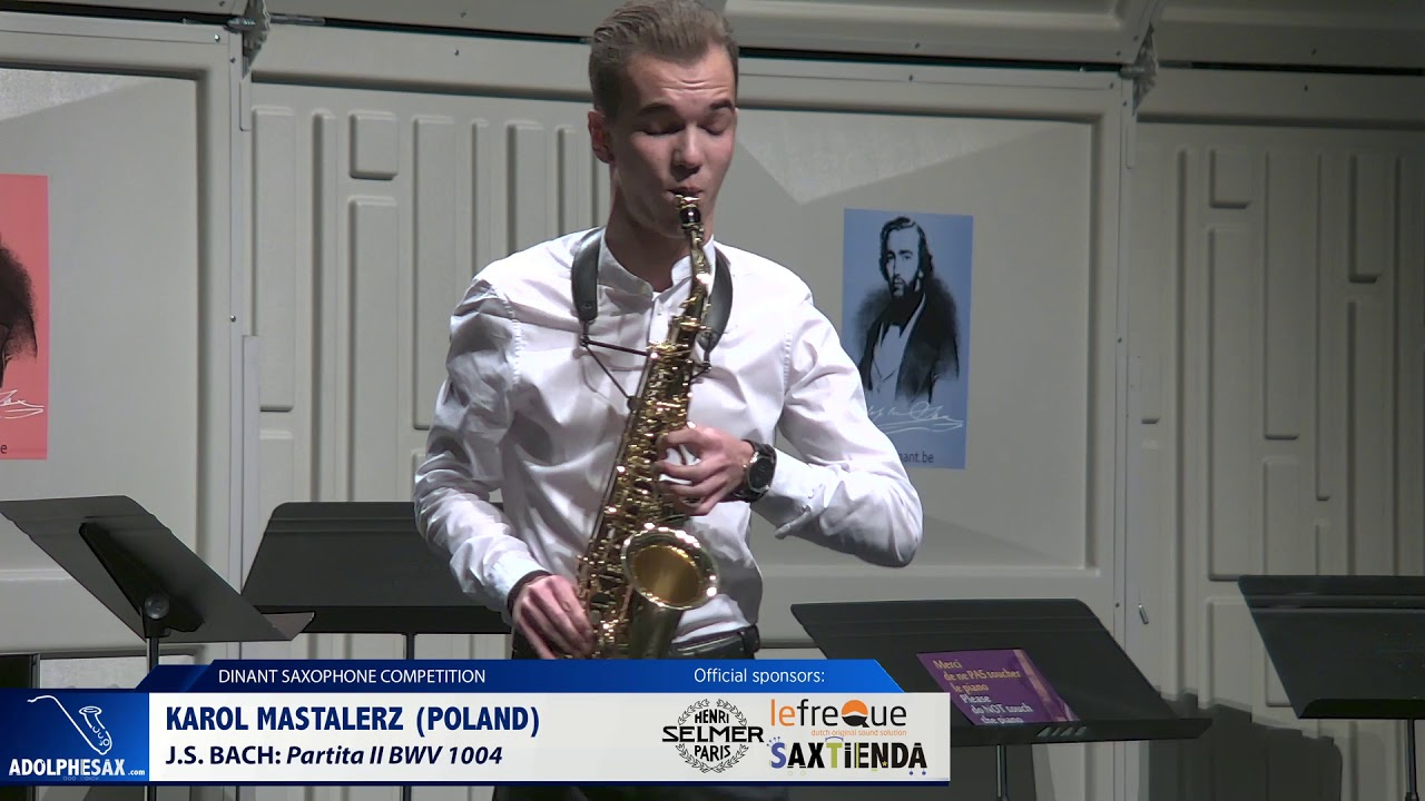 Karol Mastalerz (Poland) - Partita II BWV 1004 by J.S.Bach (Dinant 2019)