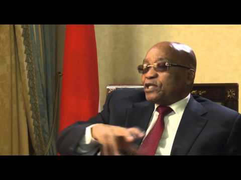 Pres. Zuma's post interview after meeting with Angela Merkel
