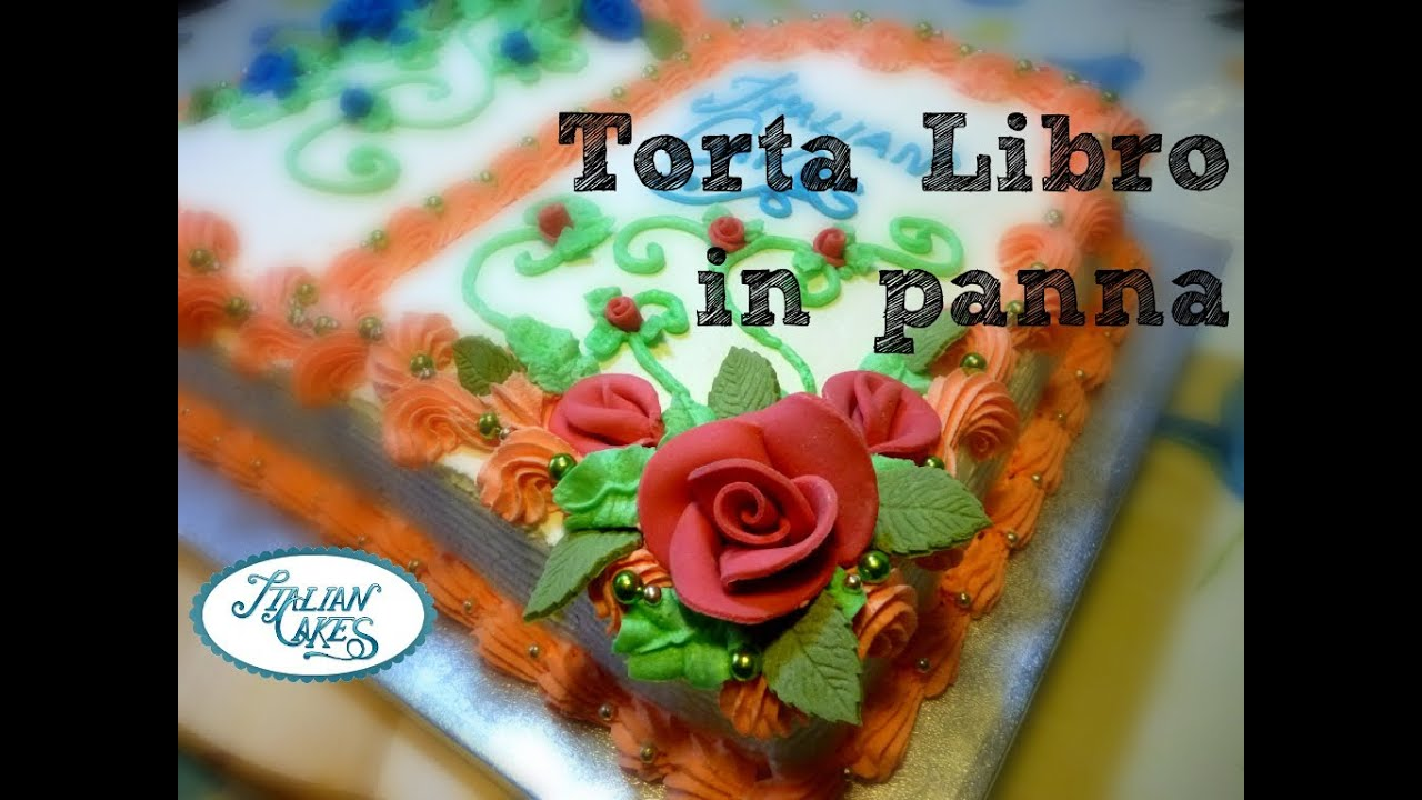 Cakes decorating book decorated in whipped cream by ItalianCakes
