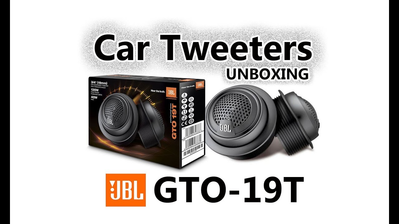 Jbl Gto 19t Soft Dome Tweeters Car Speakers Quick Preview