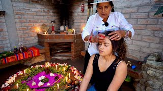 Soothing ASMR Massage and Spiritual Cleansing (Limpia Espiritual) Ritual at night with Doña Rosa