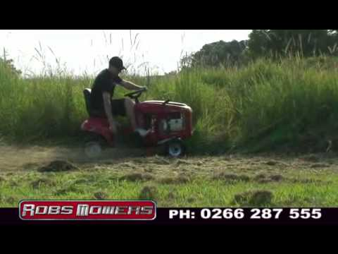 Ride On Mower >> (SD) Cox Mower Stockman Mowing Tall Thick Grass and Lawns by Robs Mowers - YouTube