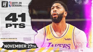 Anthony Davis RETURNS to New Orleans, 41 Points Full Highlights vs Pelicans | November 27, 2019