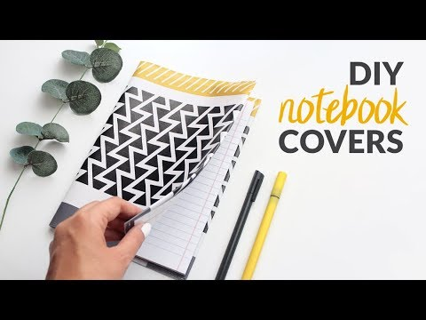 DIY Journal and Notebook Covers - Back to School Supplies