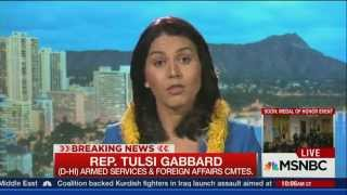 Rep Tulsi Gabbard on MSNBC Distinguishes Between War to Overthrow Assad and War to Defeat ISIS thumbnail