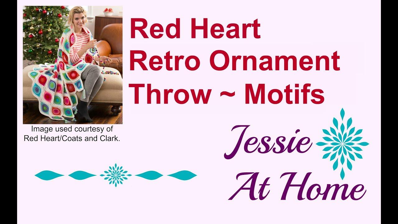 Retro Ornared Heart Retro Ornament Throw Motifs Youtube