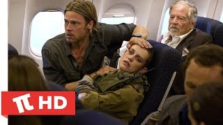 Dünya Savaşı Z   Uçakta Zombi Salgını   HD