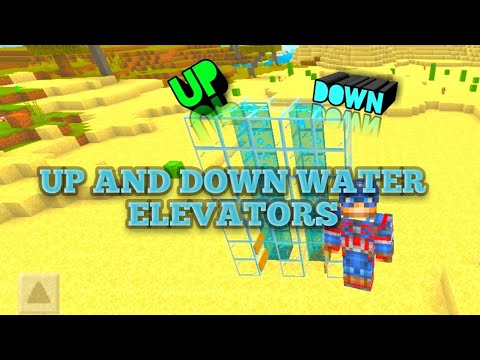 How to build up and down water elevators in MCPE