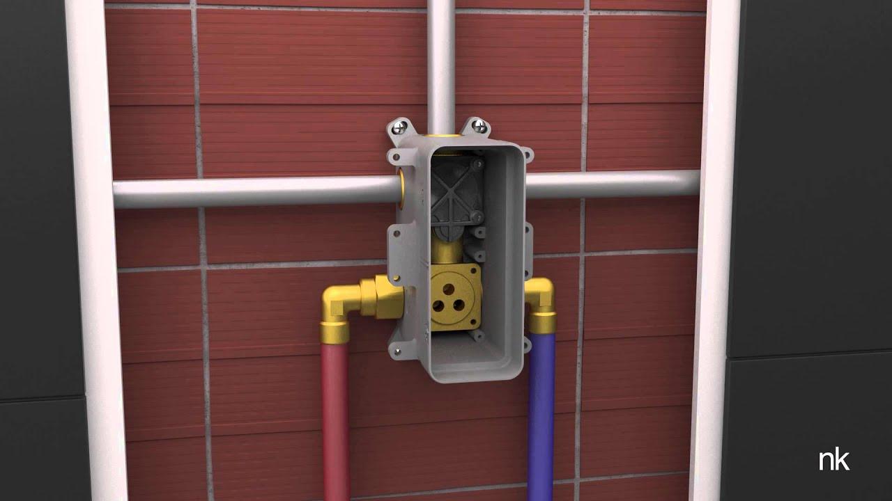 Instalaci n del sistema de encastre de ducha smart box for Instalacion griferia ducha