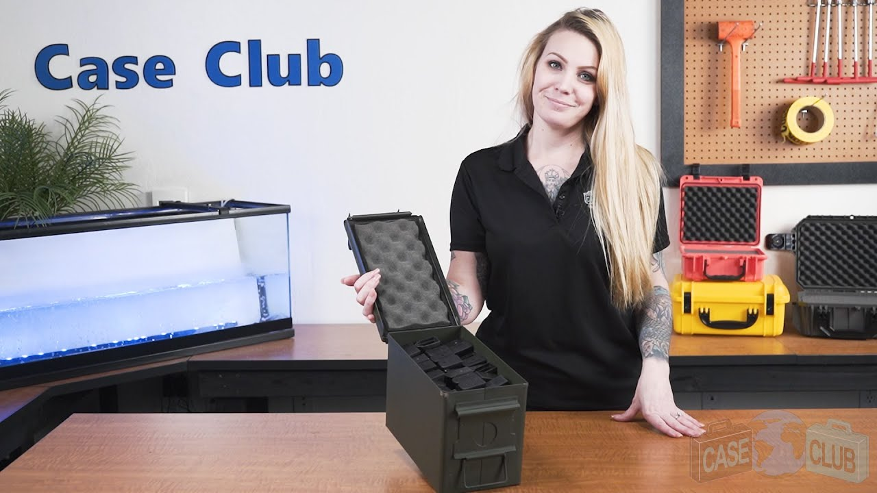 Case Club 30 Pistol Magazine Ammo Can Plastic - Overview - Video