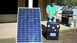 Portable Solar Generator -No Gas, No Fumes, No Noise.