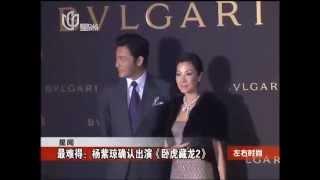最难得——杨紫琼确认出演《卧虎藏龙2》