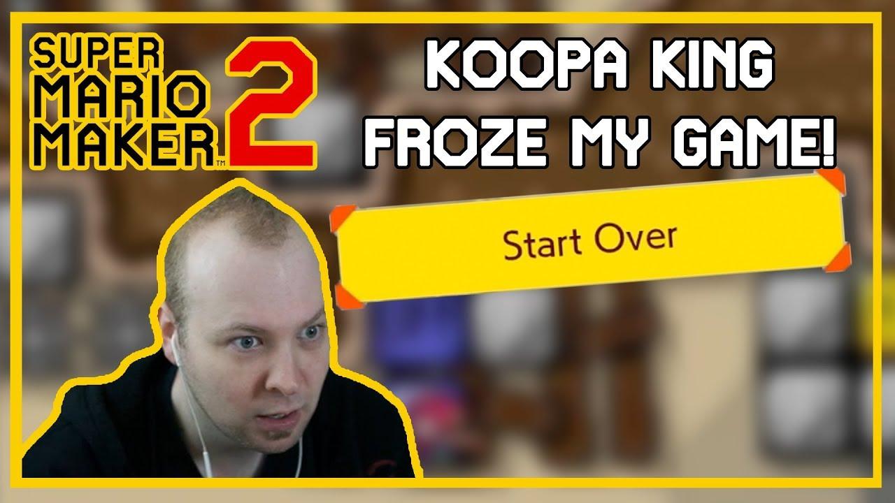 KOOPA KING FROZE MY GAME - Troll Level [Super Mario Maker 2]