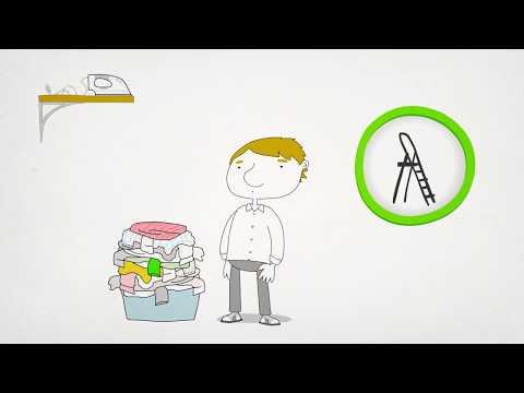Prevención de lesiones en las tareas del hogar. 12 meses, 12 consejos de salud.