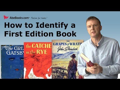 AbeBooks Explains How To Identify A First Edition Book