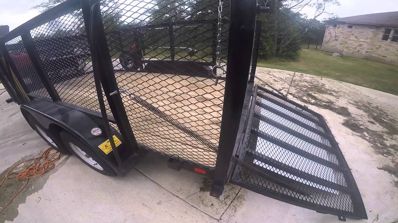 Homemade Lift Lever For Gate : Lawn trailer gate assist youtube