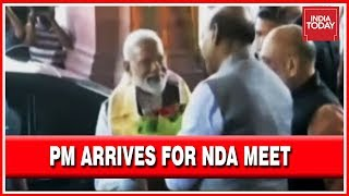 PM Modi Arrives At Parliament For The NDA Meet LIVE