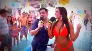 Pânico na Band Nicole e Christian fazem patrulha da praia em Fortaleza 08/09/2013