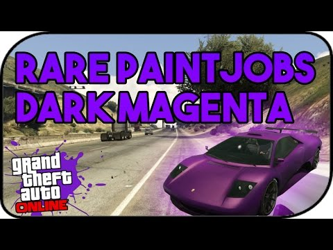 GTA V ONLINE | RARE PAINT JOBS | DARK MAGENTA | AFTER PATCH 1.33 | #UNIQUEGLITCHING