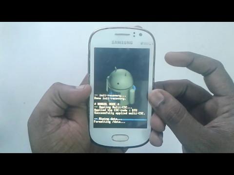 Samsung Galaxy Fame S6810P factory reset patten unlock