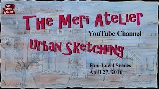 2016 Urban Sketching Art Journal, April 27, Part 1