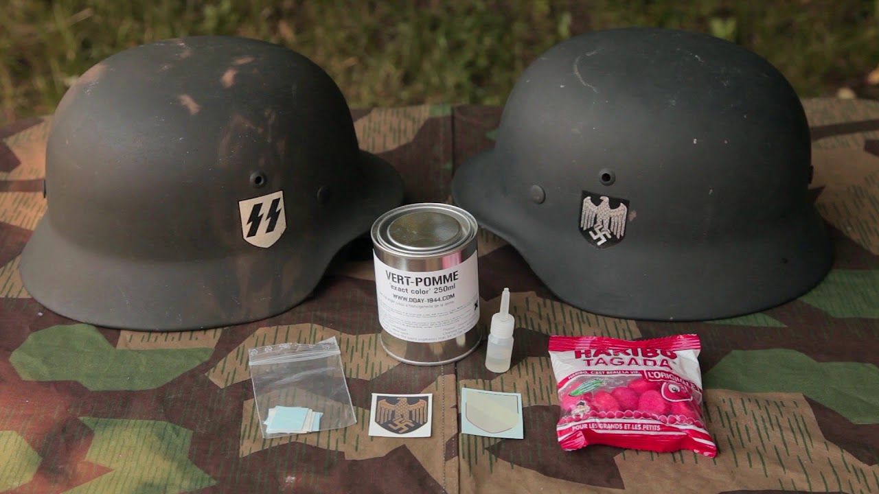 German WWII Helmet Restoration Products From DDAY - 1944