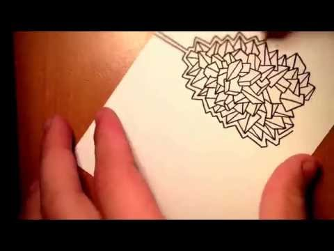 Abstract graphic art speed painting video