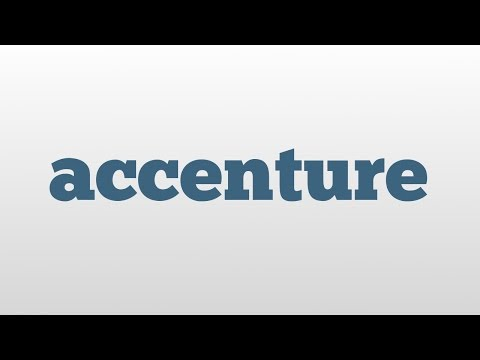 accenture meaning and pronunciation - YouTube