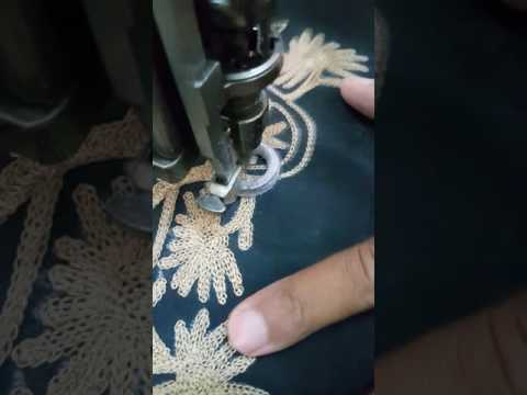 How Pasham Embroidery is done by hand.