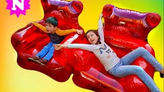 Kids Have Fun on Long Slide  Fun Time  Naty TubeFun