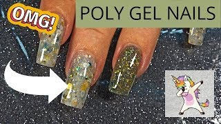 HOW TO: ModelOnes Poly Gel & Glitter Nails!!  Full Tutorial!!