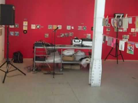Set up at Gallery 16, 3rd @ Bryant in downtown SF, for tomorrow's (May 7th) WFMU remote broadcast