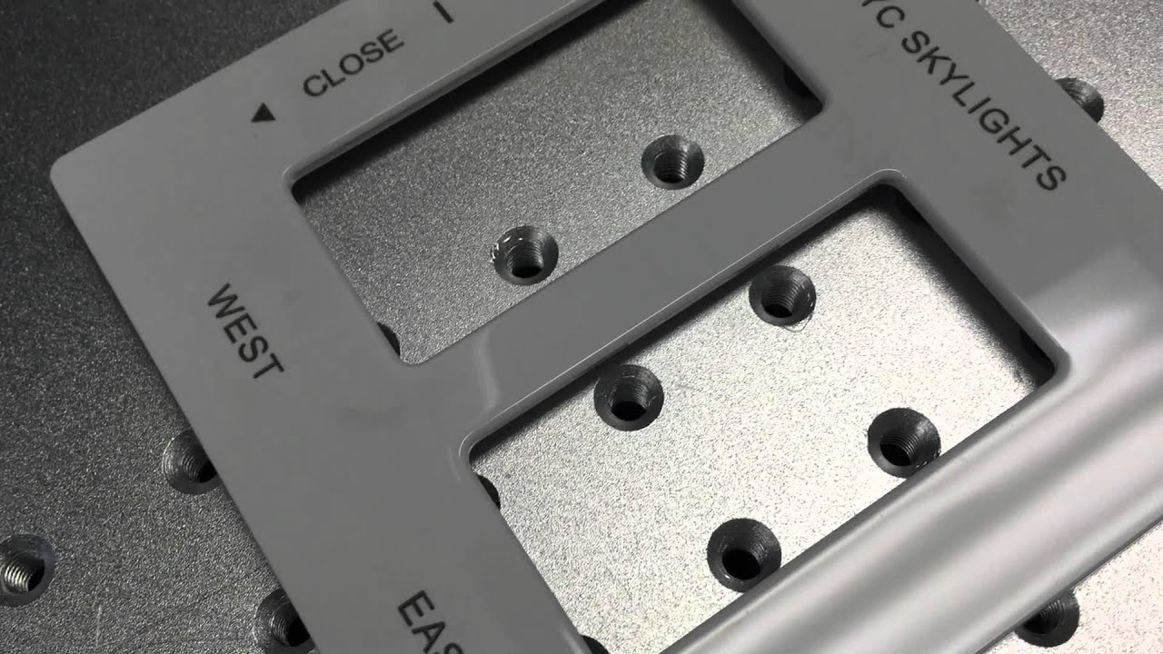 Fiber Laser Engraving White Abs Plastic Outlet Switch