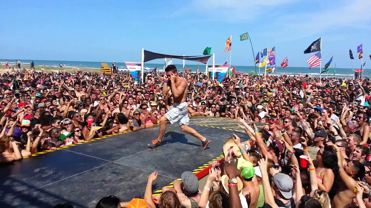 South Padre Coca Cola Beach 2017 Spring Break Male Dance Contest